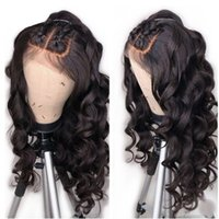 Wholesale brazilian body wave ponytail resale online - 360 Lace Frontal Wigs Body Wave Inch Lace Front Human Hair Wig With Baby Hair Pre Plucked Density Brazilian Remy Ponytail