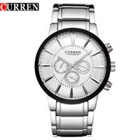Wholesale clock dropship for sale - Group buy CURREN Retro Design Fashion Full Steel Quartz Male Clock NEW Mens Sports Wrist Watches Dropship Relogio Masculino Reloj Hombre