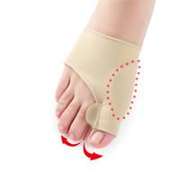llave de dedo del pie valgo al por mayor-Hot Hallux Valgus Braces Big Toe Ortopédicos Calcetines de corrección Dedos Separador Cuidado de los pies Proteger el dolor Aliviar la manga del pulgar del hueso