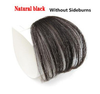 Wholesale short auburn hair color for sale - Group buy 4Color Clip In Hair Bangs Hairpiece Synthetic Fake Bangs Hair Piece Clip In Hair Extensions Blunt Bangs