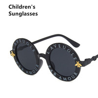 Nuovi Occhiali da sole per bambini Nero Kids Girls Designer Grande Retrò Vintage UV400