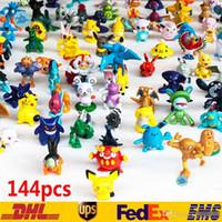 ingrosso figure di 3cm-144 PZ Pokemons Mostro Pikachu Giocattoli in PVC Cartoon Film Cosplay Action Figure Decoration Doll Toys Bambini Giocattoli per bambini Regali 3CM SZ-T02