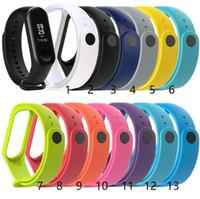 fitness uhrenarmband großhandel-Für xiaomi mi band 3 4 silikonband uhr armband smart armband ersatzband m4 fitness tracker armband zubehör