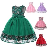 Wholesale chinese net laces for sale - Group buy Retail kids designer dress girls embroidered dress skirt children lace princess dresses flower girl net tutu party dresses boutique clothes