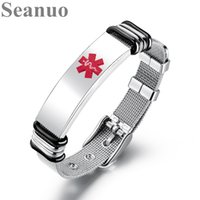 Wholesale fashion watch beads online - Seanuo CM Punk Adjustable Men Statement Watch Band Wrap Bracelets Bangles Jewelry Fashion Cool Stainless Steel Male Bracelets