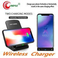 ingrosso il miglior pad di ricarica di qi-Best 2 bobine caricabatterie senza fili veloce Qi Wireless Charging Pad basamento per l'iPhone X 8 8plus Samsung Note 8 S8 S7 Rall Qi-enabled smartphone