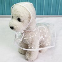 Wholesale transparent waterproof raincoats resale online - Dogs Waterproof Transparent Raincoat Clothes Pet Dog Cat Spring Summer Rain Coats Pet Accessories Rain Jacket