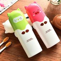 boîte à dentifrice achat en gros de-Boîte à dents en plastique portable organisateur de maquillage boîte de rangement organisateur de rangement en plastique boîte à dents en plastique hx0021