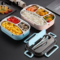 Wholesale compartment lunch boxes for sale - Group buy Portable Compartment Insulated Lunch Box Japanese style Office Worker Portable Separation Microwave Heating Bento Box