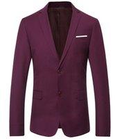 blaue koreanische jacke groihandel-Korean Slim Fit Baumwolle Suit Jacket schwarz blau plus Größe M 3XL Herren Blazer Casual Style 4 Farben