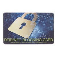 ingrosso scudo della carta di credito-Protezione della carta di credito Rfid Blocking Nfc Signals Shield Secure For Passport Purse Drop shipping Alta qualità