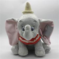 Wholesale stuffed animals elephants resale online - 1piece Cute Dumbo Elephant Plush Toy Stuffed Animals Baby Girls Kids Toys Dumbo the Flying Elephant Children Christmas GiftsMX190917