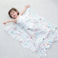 muslin kundaklaması sarar toptan satış-Bebek Kundak Battaniye Pamuk Yenidoğan Bebek Yatak Aksesuarları Bebek Uyku Kundak Muslin Wrap Çocuklar Oyun Mat