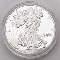 Wholesale one dollar coin resale online - Statue Of Liberty Commemorative Coin Oz Fine Silver One Dollar Coins Collectibles US America Coins Boxing Ring