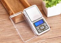 mini dijital teraziler toptan satış-Mini Elektronik Dijital Ölçeği Takı Tartı Denge Cep Gram Perakende Kutusu Ile LCD Ekran Ölçeği 500g / 0.1g 200g / 0.01g
