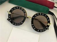 verres en bois chine achat en gros de-Gucci GG0113S lunettes populaires mode femmes marque designer ronde style rétro titane plein cadre de haute qualité gratuit viennent avec cas