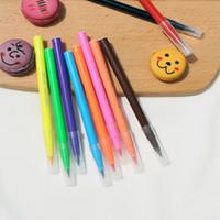 pluma pintura pigmento al por mayor-10 estilos comestible pigmento 5ml pluma DIY Alimentos coloración en las plumas de la galleta torta de la pasta de Escritura de la pintura del cepillo de la torta que adorna la herramienta RRA1854