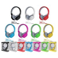 Wholesale cute headphones resale online - Cute Fashion Candy Color Headphones Folding Earphone with Mic Stereo for Mp3 Player Smart Phone