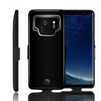 ingrosso estese batterie-Per Samsung S9 plus Custodia per batteria 7000mAh Custodia di ricarica portatile per Galaxy S9 Plus + Batteria protettiva Ultra Slim estesa