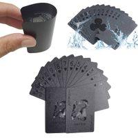 Wholesale black poker cards for sale - Group buy TG0020 Waterproof Black Diamond Poker Creative Standard Playing Cards