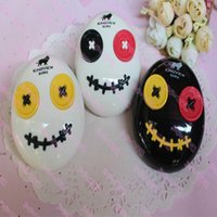 Wholesale voodoo girl resale online - 5pcs mix The new clown One piece button series Contact lenses box Voodoo doll is CM Fashion boys and girls students
