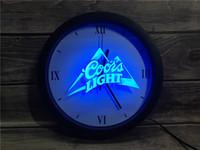 освещение логотипа пива оптовых-0A004 Coors Light Beer Bar Pub Logo APP RGB 5050 LED Neon Light Знаки настенные часы