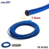 Wholesale stainless steel braided hose for sale - Group buy 50M Braided Stainless Steel Hydraulic Brake Fuel Line Hose Rubber Covered Hose Track Drift Racing TK SCG01