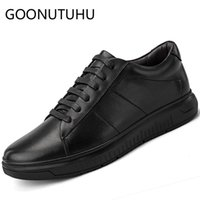 Wholesale male shoes for sale for sale - Group buy 2019 new fashion men s shoes casual genuine leather male flat sneakers black shoe man waterproof platform shoes for men hot sale