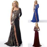 gece elbisesi pilili yaka toptan satış-Moda Yeni Moda Kadınlar Partisi Eğik Yaka Patchwork Bölünmüş Hem Pileli Seksi Elbise Moda Eğik Yaka Elbise akşam