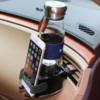 Wholesale black car scratches for sale - Group buy 2 In Phone Mount Storage Cup Bottle Scratch Proof Water Smart Universal Air Vent Car Drinks Holder Auto Accessories Adjustable