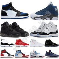 Wholesale 13 women basketball for sale - Group buy Newest High Concord Bred s Men Women Jumpman Basketball Shoes Concord White Royal Toe Hare Court Purple Space Sneakers Trainer