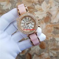 uhren für porzellan großhandel-de Frauen Luxus China Armbanduhr Quarz-Batterie Designer Damen Wasserdichtes Kleid Diamant Edelstahl Gold Silber T / T Uhren