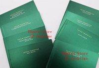 ücretsiz kart modelleri toptan satış-Tüm serisi Orijinal Doğru Kağıtlar Lüks Üst Yeşil Hediye Çantası Rolex Kutuları Kitapçıklar için Saatler Ücretsiz Özel Baskı Modeli Seri Numarası kart