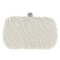 ingrosso borsa da sposa borse-Pochette a forma di ovale perline Donna Pochette bianca Borse a tracolla a catena elegante Pochette da sposa nuziale Pochette femmina Z80