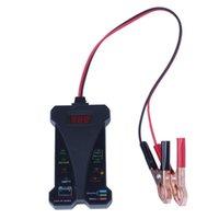 analyseur led achat en gros de-Voltmètre testeur de batterie numérique 12V et analyseur de système de charge avec afficheur LCD et indication par LED