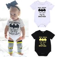 bebek batman kıyafetleri toptan satış-Pudcoco Karikatür Batman bebek giysileri romper Yaz Yenidoğan Erkek Bebek Kız Çocuk Pamuk kısa kollu Romper Tulum Giysi Kıyafet