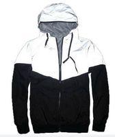 männer dünner schwarzer grabenmantel großhandel-Mode-neue Herbst-Frühling 3M Hiphop Jacke Reflektierende Jacke dünne schwarze Windjacke Männer Frauen Graben-Jacken-Mantel