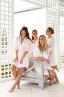women s silk nightgowns großhandel-2020 Art und Weise Frauen-Mädchen-reizvolle kurze Hülsen-Spitze Unterwäsche Imitation Ice Silk Nachtwäsche Set Lady Nightgowns
