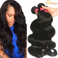Wholesale deep wave hair bundles resale online - Mink Brazilian Body Wave Straight Deep Wave Water Wave Hair Unprocessed Human Hair Extensions Brazilian Body Hair Weave Bundles