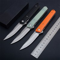 Wholesale keychain rescue tool resale online - 3 Styles Flipper Knife D2 HRC Satin Blade G10 Handle Outdoor Survival Rescue Tool EDC Pocket Very Sharp Gift Keychain Knives P852F Q
