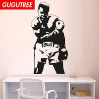 murais removíveis para paredes venda por atacado-Decore Home campeão de boxe arte dos desenhos animados adesivos de parede decoração decalques mural pintura Removível Decoração Papel De Parede G-1924