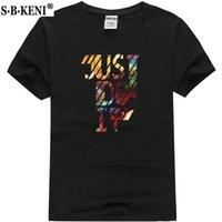 apenas camisas brancas venda por atacado-Nova moda JUST T-shirt marca de roupas de impressão carta letras brancas dos homens T-shirt de manga curta anime de alta qualidade