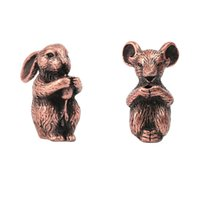 Wholesale chinese zodiac year statue resale online - 2pcs Feng Shui Chinese Year Zodiac Animals Statue Spa Incense Holder Rat Rabbit