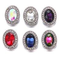 ingrosso bottoni ovale del strass-NOOSA risultati dei gioielli con bottoni automatici con strass ovali per gioielli con anelli per bracciale con bottone a pressione 18mm