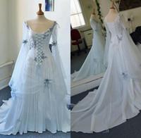 vestido de casamento branco medieval venda por atacado-