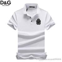 yarım kollu gömlek erkek stili toptan satış-Erkek POLO gömlek kısa kollu Paul gömlek yeni sürümü 2019 yaz balıkçı yaka T-shirt İngiliz tarzı yarım kollu üst