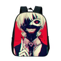 mochila menina de 12 polegadas venda por atacado-Hot 12 Polegada Sacos Anime Tokyo Ghoul Mochilas Para Crianças Dos Desenhos Animados Bolsa de Ombro Escola Meninos Meninas Sacos Dropshipping Presentes Da Escola