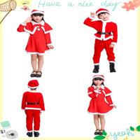 menino vestido de princesa venda por atacado-Vestido de natal para roupas de meninas definir traje de natal Ouro traje de veludo 3pcs baby boy roupas conjunto princesa