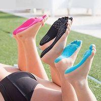 ingrosso piede appiccicoso-VENDITA CALDA Adesivi Scarpe Cura di piedi per bastone su suole Sticky Pad Beach Calzino impermeabile ipoallergenici adesivi piede rilievi di cura 10PAIRS / 20PCS
