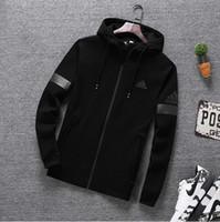 uzun kış montları erkekler toptan satış-Lüks Tasarımcı Ceket Erkekler Için Ceket Uzun Kollu Coats Logo ile Sonbahar Kış Spor Fermuar Rüzgarlık Erkek Giyim L-5XL Toptan